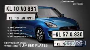 IND number plates with long and medium frame from Malappuram