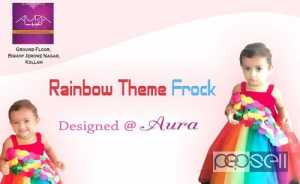 Rainbow theme frock at Kollam