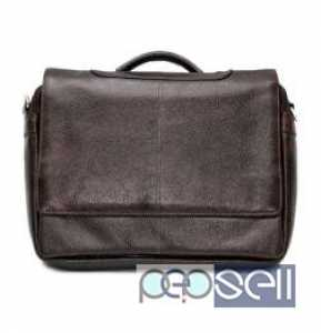 Buy stylish Dark brown leather laptop bags for men only at Beltk