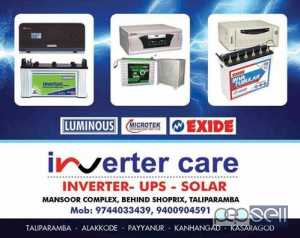 exide battery dealer taliparamba-Contact Inverter Care :+919744033439 , +918606049691 - FREE DELIVERY & INSTALATION