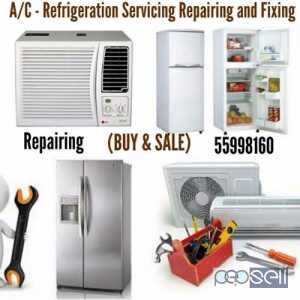 A/C -Refrigerstion Servicing Repairing And Fixing. BUY AND SALE Qatar Doha