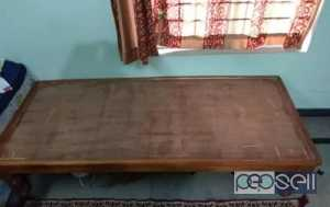 Wooden single bed (2 nos)