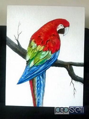 acrylic painting Kochi, India 0