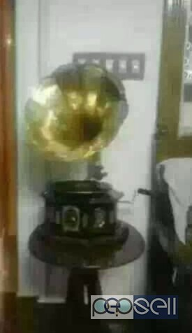 Black And Gold-colored Gramophone for sale at Palakkad
