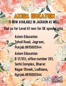 Ielts life skills Level A1 esol test centre in ludhiana,moga MOHALI JALANDER  DELHI ambala