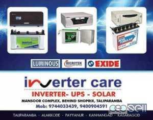 Inverter Care-inverter Dealer Cherupuzha,Mathil,Peringome,Padichal,terthally,kankol