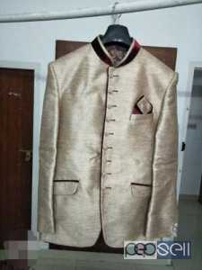Silver Gold + Red suit for sale at Aluva