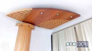 wooden pillar and wooden ceiling for sale at Kalamassery