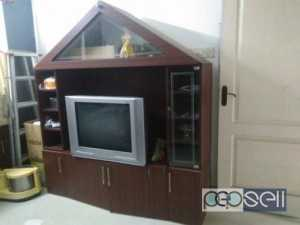 TV stand with show case in good condition