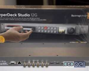 Blackmagic Design HyperDeck Studio 12G UHD HD SSD Video Recorder EXC