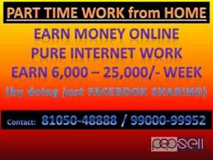 PART TIME JOB WORK FROM HOME Bangalore, India
