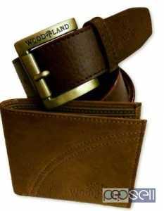 Woodland leather wallet & woodland belt at 499 only