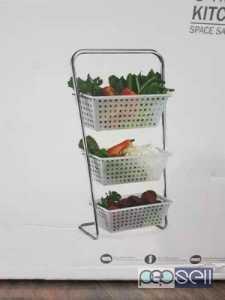 Home utility steel acrylic basket