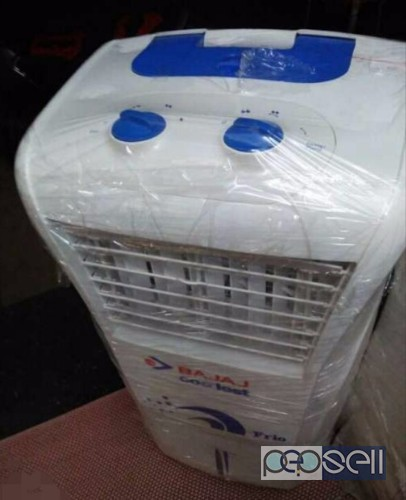 White And Blue Bajaj Portable Air Cooler for sale at Kadungallur Aluva 0
