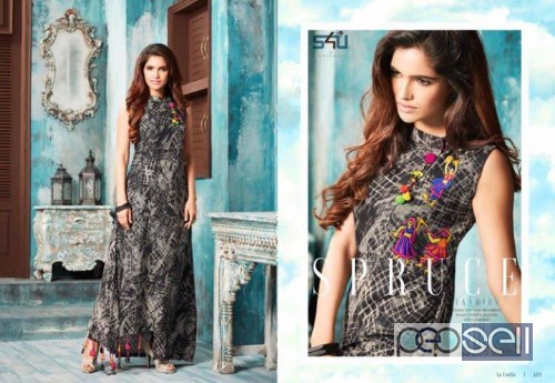 13b219116c s4u la exotic silk designer kurtis catalog at wholesale available moq- 13pcs  no singles price