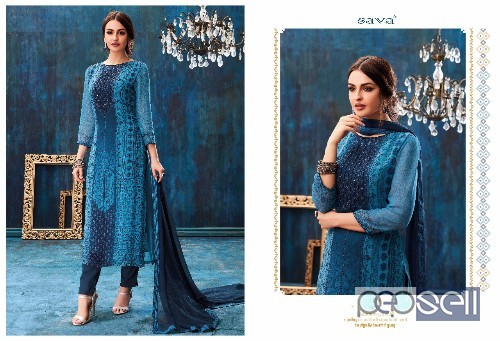 0aed0b8cc5 ganga sava georgette suits catalog at wholesale available ...