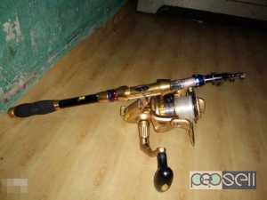 New Golden Fishing Rod for sale at Chalakudy