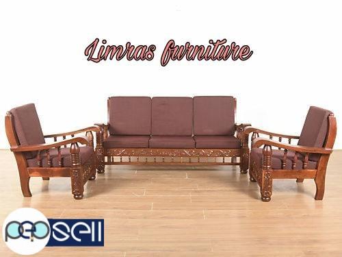 Brand New Assam Teak Wood Sofa 3 1 1 Warranty