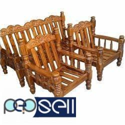 Brand New Am Teak Wood Sofa 3 1 Warranty