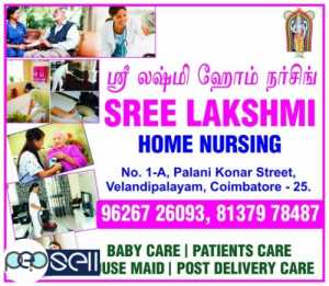 SREE LAKSHMI, HOME NURSING AGENCIES IN COIMBATORE,VELANDIPALAYAM