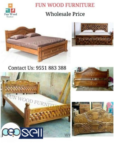 Queen Size Original Teak Wood Bed For Sale In Chennai