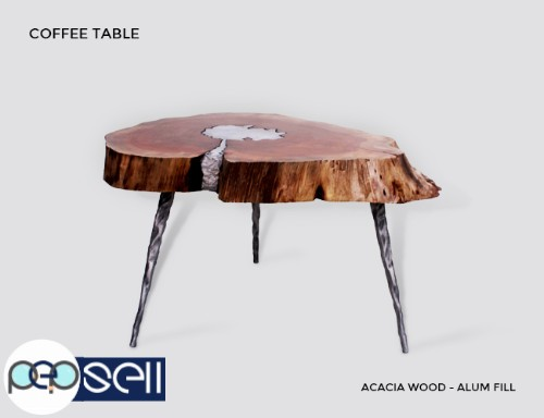 Molten Wood Coffee Table at Aglow Export Inc 0