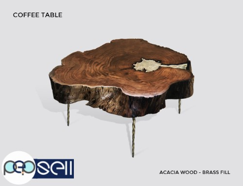 Molten Wood Coffee Table at Aglow Export Inc 1