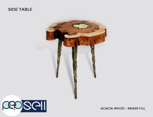 Molten Wood Side Table at Aglow Exports Inc. 1