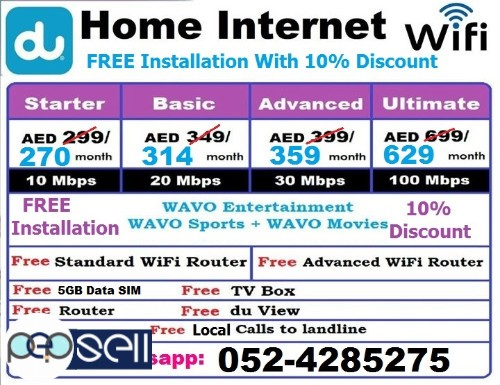 Du internet with Free TV Channels 5