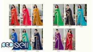 Beautiful Georgette Sarees with border