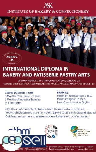 Bakery Course. 100% Job -Campus Placement in Star Hotels 1