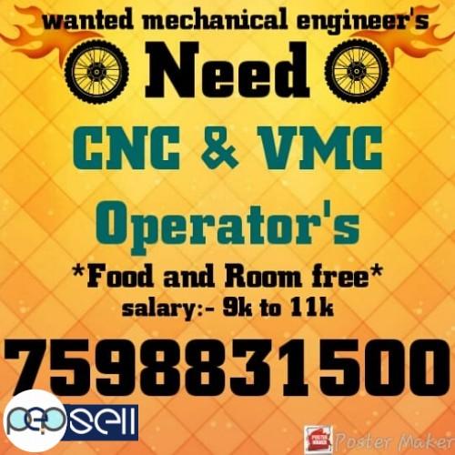 Need CNC and VMC operator at Coimbatore 0