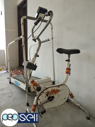 Fitness equipments Hero treadmill and cycle for sale 0