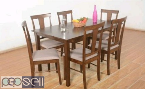 Unboxed Farso solid six seater Dining table 4