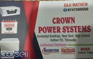CROWN POWER SYSTEMS Inverter battery dealers in Pathanamthitta Thiruvalla Konni Kuttoor Ranni Kozhanchery