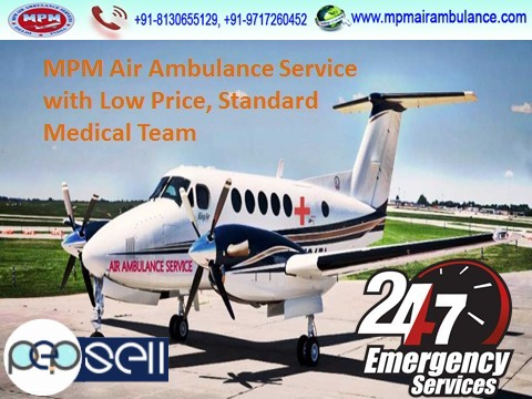 Highly-Established and Well-Furnished MPM Air Ambulance in Delhi  0