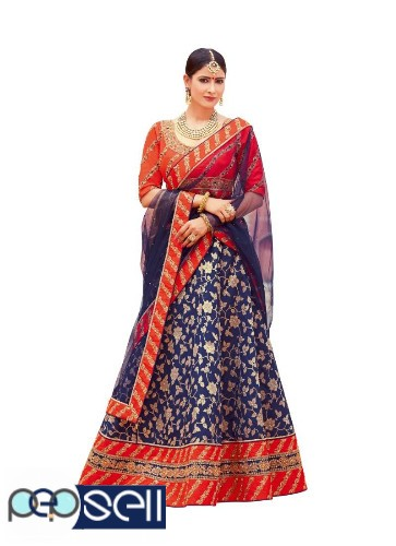 Best Blue Lehenga Designs Available At Mirraw | Shop Now 0