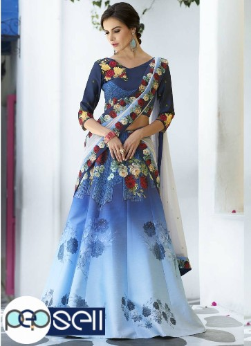 Best Blue Lehenga Designs Available At Mirraw | Shop Now 1