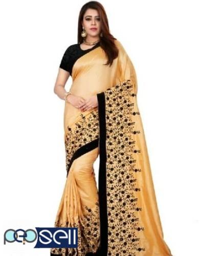 Sana Silk heavy Embroidered Sarees for sale 1
