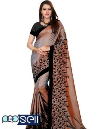 Sana Silk heavy Embroidered Sarees for sale 2
