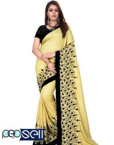 Sana Silk heavy Embroidered Sarees for sale 3