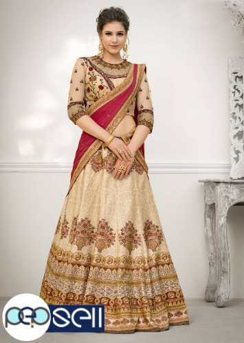 Visit Mirraw To Shop Beige Color Lehengas At Lowest Cost 0