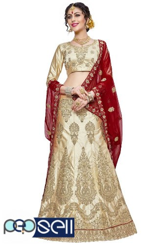 Visit Mirraw To Shop Beige Color Lehengas At Lowest Cost 1
