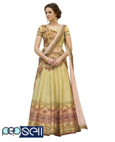 Visit Mirraw To Shop Beige Color Lehengas At Lowest Cost 2