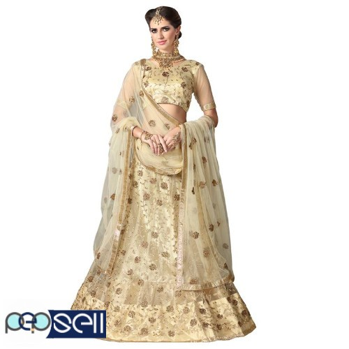 Visit Mirraw To Shop Beige Color Lehengas At Lowest Cost 3