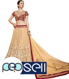 Visit Mirraw To Shop Beige Color Lehengas At Lowest Cost 4