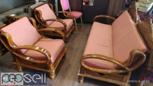Teak Wood Sofa Set At Factory, Carpenter Teak Wood Sofa Set Designs Pictures