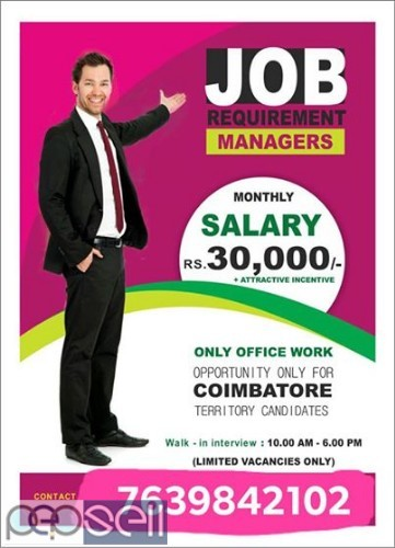 Excellent job offer for Coimbatore candidates 0