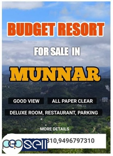 Budget resort for Sale in Munnar 0