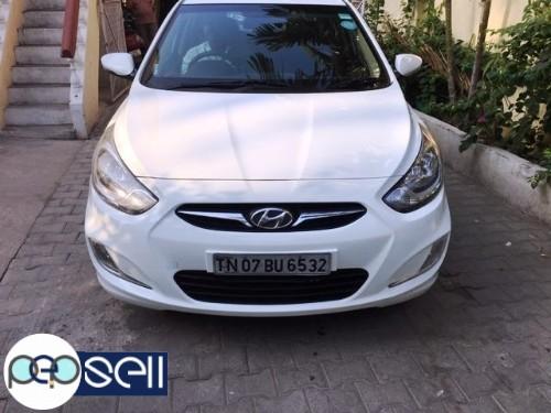 2013 Hyundai Fluid Verna SX Diesel White colour single owner 82900 km driven insurance till may 2020 0